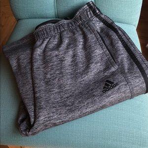Adidas grey and black running pants